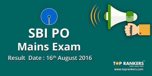 SBI PO Mains  2016 Result