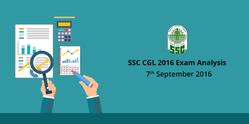 SSC CGL Tier 1 Exam Analysis, questions asked: 7th Sept 2016
