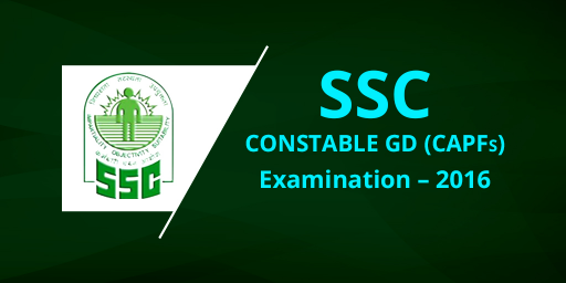 SSC GD Constable Recruitment 2016