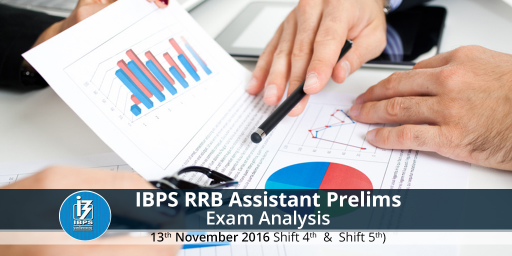 IBPS RRB Assistant prelims exam analysis for 13 Nov 2016 , Shift 4 and Shift 5