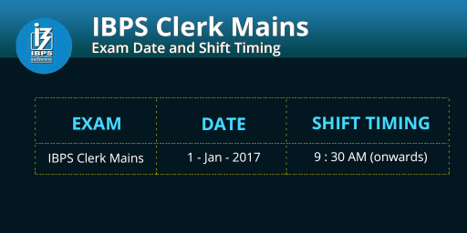 ibps-clerk-mains-2016-exam-dates-and-shift-timings