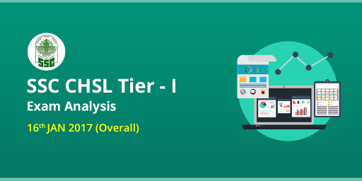 SSC CHSL Tier I Exam Analysis: 16th January 2017 (Overall Slots)