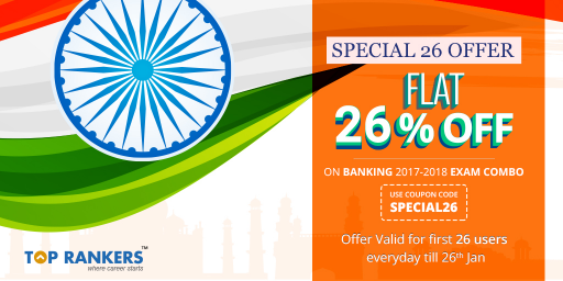 Republic Day Mock Tests Offers 2017 - Discounts for Special 26! @ Banking Exams Combo Pack