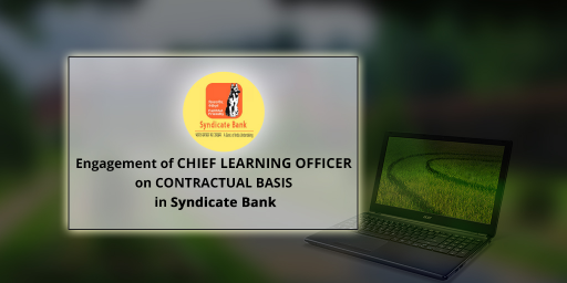 Recruitment of Chief Security Officers in Syndicate Bank 2017-2018