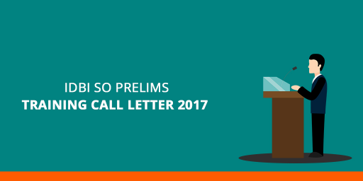 IDBI SO Pre-Exam Training Call Letter 2017